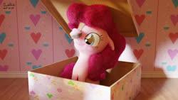 Size: 3840x2160 | Tagged: safe, artist:dashyoshi, pinkie pie, earth pony, pony, 3d, box, cupcake, food, pony in a box, solo