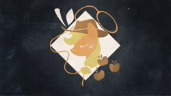 Size: 1280x720 | Tagged: safe, artist:createvi, applejack, cutie mark, lasso, part of a set, rope, solo, wallpaper
