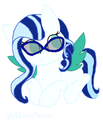 Size: 1024x1224 | Tagged: safe, artist:akirindraws, oc, oc only, oc:aurora spirit, pegasus, base used, colored wings, female, glasses, multicolored wings, no source available, pegasus oc, simple background, solo, transparent background, wings