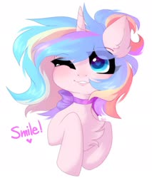 Size: 1526x1790 | Tagged: safe, artist:alkit_is_not_me, oc, oc:oofy colorful, earth pony, pony, bust, solo