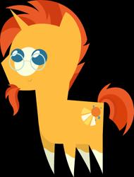 Size: 1491x1961 | Tagged: safe, artist:estories, editor:slayerbvc, sunburst, pony, unicorn, cropped, glasses, male, missing accessory, pointy ponies, simple background, smiling, socks (coat marking), solo, stallion, sunburst's glasses, transparent background, vector
