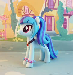Size: 826x850 | Tagged: safe, artist:krowzivitch, sonata dusk, pony, craft, equestria girls ponified, female, figurine, irl, jewelry, mare, necklace, photo, ponified, sculpture, solo, spiked wristband, traditional art, wristband