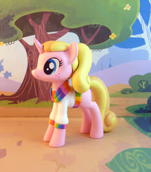 Size: 749x850 | Tagged: safe, artist:krowzivitch, oc, oc:trish, pony, unicorn, clothes, craft, female, figurine, irl, mare, photo, sculpture, solo, sweater
