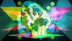 Size: 3840x2160   Tagged: safe, artist:cyanlightning, artist:laszlvfx, edit, sandbar, earth pony, pony, arrow, bow (weapon), bow and arrow, clothes, cosplay, costume, hat, hoof hold, male, quiver, robin hood, solo, wallpaper, wallpaper edit, weapon