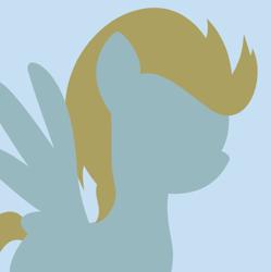 Size: 498x500 | Tagged: safe, lightning dust, pegasus, pony, avatar, background pony, derpibooru background pony icon, female, lineless, mare, minimalist, modern art, solo