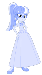 Size: 348x612 | Tagged: safe, alternate version, artist:cartoonmasterv3, sci-twi, twilight sparkle, human, equestria girls, alternate universe, clothes, long skirt, simple background, skirt, solo, transparent background, vector