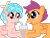 Size: 4096x3112 | Tagged: safe, artist:poniidesu, cozy glow, scootaloo, pegasus, pony, /mlp/, chocolate, chocolate milk, chocolate milkshake, colored, cozybetes, cozyloo, cute, duo, female, filly, flat colors, high res, lesbian, milk, milkshake, shipping, simple background, straw, transparent background