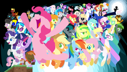 Size: 3840x2160 | Tagged: safe, artist:viva reverie, amethyst star, angel bunny, apple bloom, applejack, berry punch, berryshine, bon bon, button mash, carrot top, cheerilee, cheese sandwich, cloudy quartz, derpy hooves, discord, dj pon-3, fluttershy, golden harvest, igneous rock pie, lyra heartstrings, neon lights, nightmare moon, octavia melody, photo finish, pinkie pie, pretty vision, princess celestia, princess luna, rainbow dash, rarity, rising star, shining armor, soigne folio, sparkler, stella lashes, sweetie belle, sweetie drops, trixie, twilight sparkle, vinyl scratch, oc, oc:abluskittle, oc:alex s, oc:animatedjames, oc:blackgryph0n, oc:brock fallon, oc:bronydanceparty, oc:decibelle, oc:eilemonty, oc:fluffle puff, oc:forest rain, oc:mic the microphone, oc:silver line, oc:snowdrop, oc:the living tombstone, oc:viva reverie, oc:wooden toaster, alicorn, changeling, draconequus, earth pony, human, monkey, pegasus, pony, unicorn, brony polka, don't mine at night, picture perfect pony, 4k, alex s., eilemonty, ken ashcorp, mane six, minecraft, no outline, pointy ponies, rina-chan, s1 luna, scout, silhouette, the jokermort