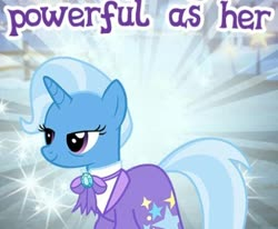 Size: 448x370 | Tagged: safe, trixie, the last problem, spoiler:s09e26, cropped, gameloft, meme, older trixie, wow! glimmer
