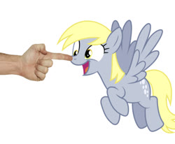 Size: 603x497 | Tagged: safe, edit, editor:undeadponysoldier, derpy hooves, human, pegasus, pony, slice of life (episode), boop, cute, derpabetes, female, happy, irl, irl human, mare, noseboop, photo, simple background, white background
