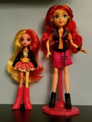 Size: 2269x3025 | Tagged: safe, sunset shimmer, equestria girls, boots, bracelet, clothes, doll, double, female, hair, jewelry, shoes, skirt, toy