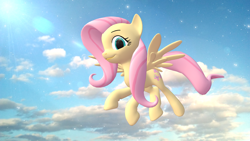 Size: 1920x1080 | Tagged: safe, artist:feuerrader-nmm, fluttershy, pony, 3d, flying, solo