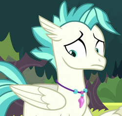 Size: 914x869 | Tagged: safe, edit, edited screencap, screencap, terramar, classical hippogriff, hippogriff, seapony (g4), surf and/or turf, beakless, cropped, male, solo, wat