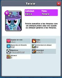Size: 521x655 | Tagged: safe, trixie, pony, clash royale, female, game, good, hat, icon, magic, mare, profile, smiling, supercell