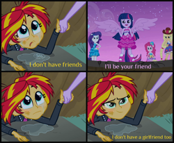 Size: 2200x1817 | Tagged: safe, edit, edited screencap, screencap, sunset shimmer, twilight sparkle, equestria girls, equestria girls (movie), crying, fall formal outfits, female, lesbian, ponied up, shipping, sunsetsparkle