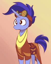 Size: 1076x1336 | Tagged: safe, artist:niteax, hoo'far, saddle arabian, unicorn, road to friendship, cute, goggles, male, solo, stallion