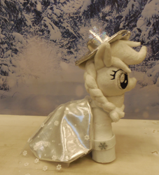 Size: 2200x2424 | Tagged: safe, artist:crazyditty, applejack, spirit of hearth's warming past, a hearth's warming tail, hearth's warming eve, holiday, irl, photo, plushie