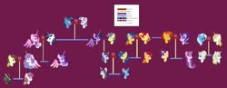 Size: 1280x496 | Tagged: safe, artist:wispyaxolotl, comet tail, flash sentry, night light, pound cake, prince blueblood, princess cadance, princess flurry heart, shining armor, starlight glimmer, sunburst, sunset shimmer, trixie, twilight sparkle, twilight velvet, alicorn, bluetrix, cometlight, family, family tree, female, flashimmer, male, nightvelvet, offspring, offspring shipping, offspring's offspring, parent:comet tail, parent:flash sentry, parent:pound cake, parent:princess cadance, parent:princess flurry heart, parent:shining armor, parent:starlight glimmer, parent:sunburst, parent:sunset shimmer, parent:twilight sparkle, parents:cometlight, parents:flashimmer, parents:poundflurry, parents:shiningcadance, parents:starburst, poundflurry, shiningcadance, shipping, starburst, straight, twilight sparkle (alicorn)