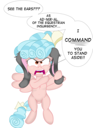 Size: 760x1052 | Tagged: angry, artist:stormythetrooper, bunny ears, cozy glow, female, filly, pegasus, pony, rant, safe, simple background, transparent background