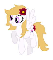 Size: 1400x1600 | Tagged: 2020 community collab, cute, derpibooru community collaboration, eyelashes, female, flower, flower in hair, heather, mare, oc, oc:heather, oc only, pegasus, pony, purple eyes, safe, show accurate, simple background, solo, transparent background