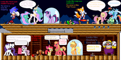 "Size: 848x424 | Tagged: airship, apple bloom, applejack, artist:guihercharly, big macintosh, bullet bill, burner, cannonball, crossover, crying, donkey kong, fluttershy, glass dome, knuckles the echidna, luigi, mario, miles ""tails"" prower, nintendo, princess celestia, rainbow dash, rarity, rash (battletoads), rocky wrench, safe, sega, shadow the hedgehog, sonic the hedgehog, sonic the hedgehog (series), super mario bros., super mario bros. 3, sweetie belle, tank, thunderstorm, twilight sparkle, wario"