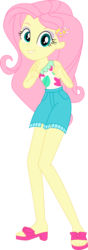 Size: 530x1507   Tagged: safe, artist:marcorois, fluttershy, equestria girls, equestria girls series, i'm on a yacht, spoiler:eqg series (season 2), clothes, simple background, solo, transparent background, vector