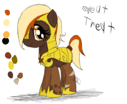 Size: 987x809 | Tagged: armor, artist:didun850, earth pony, hair over one eye, helmet, hoof shoes, oc, oc only, oc:sweet treat, pony, reference sheet, royal guard, safe, solo
