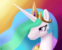 Size: 3000x2424 | Tagged: safe, artist:midwestbrony, princess celestia, pony, bust, portrait, solo