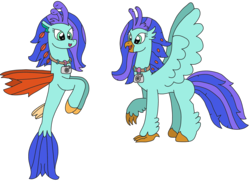Size: 3096x2251 | Tagged: artist:supahdonarudo, camera, classical hippogriff, hippogriff, hippogriff oc, jewelry, necklace, oc, oc only, oc:sea lilly, safe, seapony (g4), simple background, story included, transparent background