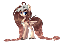 Size: 1077x742 | Tagged: artist needed, source needed, safe, oc, oc only, oc:ondrea, pegasus, cute, draft, helmet, simple background, skull, skull helmet, solo, transparent background, tribal, unshorn fetlocks