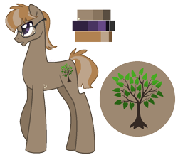 Size: 914x797 | Tagged: safe, artist:zafara1222, oc, oc only, oc:driftwod, earth pony, pony, base used, glasses, male, offspring, parent:marble pie, parent:mud briar, reference sheet, solo, stallion
