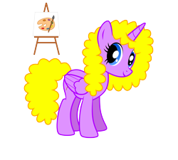 Size: 5000x4500 | Tagged: safe, artist:northernthestar, oc, oc:creative canvas, alicorn, pony, absurd resolution, alicorn oc, female, mare, simple background, solo, transparent background