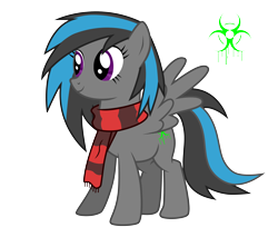Size: 4500x4000 | Tagged: safe, artist:northernthestar, oc, oc:corrode, pegasus, pony, absurd resolution, clothes, female, mare, scarf, simple background, solo, transparent background