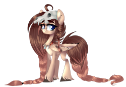 Size: 2154x1484 | Tagged: artist needed, source needed, safe, edit, editor:ciaran, oc, oc only, oc:ondrea, pegasus, pony, 2020 community collab, derpibooru community collaboration, cute, draft, female, fetlock, simple background, skull, solo, transparent background, tribal