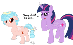 Size: 4096x2564   Tagged: safe, alternate version, artist:poniidesu, cozy glow, twilight sparkle, alicorn, pegasus, pony, the ending of the end, a better ending for cozy, bow, butt, cozy glutes, cozybetes, cute, duo, duo female, female, magic, petrification, plot, reversal, simple background, transparent background, twilight sparkle (alicorn)