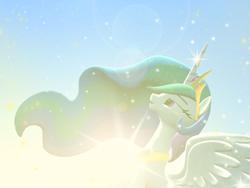Size: 1024x768 | Tagged: safe, artist:feuerrader-nmm, princess celestia, alicorn, pony, 3d, female, mare, solo, sun