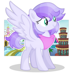 Size: 2222x2272 | Tagged: safe, artist:rerorir, oc, oc only, pegasus, pony, bandana, female, high res, mare, smiling, solo, transparent background
