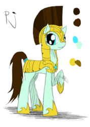 Size: 985x1385 | Tagged: armor, artist:didun850, earth pony, helmet, hoof shoes, oc, oc only, oc:pj, pony, raised hoof, reference sheet, royal guard, safe, solo