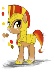 Size: 774x1032 | Tagged: armor, artist:didun850, freckles, helmet, hoof shoes, oc, oc only, pony, reference sheet, royal guard, safe, simple background, solo, transparent background