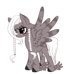 Size: 2282x2518 | Tagged: artist:peachesandcreamated, braid, eyelashes, eyeliner, hoof fluff, makeup, oc, oc only, pegasus, pony, safe, simple background, solo, transparent background