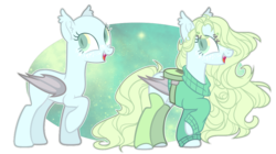 Size: 1024x572 | Tagged: safe, artist:chococolte, oc, bat pony, pony, bald, clothes, female, mare, solo, sweater
