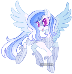 Size: 1525x1575 | Tagged: armor, artist:kurosawakuro, artist:nocturnal-moonlight, base used, female, flying, oc, offspring, parent:princess cadance, parent:shining armor, parents:shiningcadance, pegasus, pony, safe, simple background, transparent background