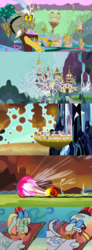 Size: 772x2096 | Tagged: a canterlot wedding, alicorn, applejack, barrier, canterlot, changeling, comic, discord, edit, fluttershy, implied dragon lord torch, lord tirek, magic, meme, pinkie pie, ponyville, princess cadance, rainbow dash, rarity, safe, screencap, shining armor, squidward tentacles, the crystal empire, the return of harmony, twilight's kingdom, twilight sparkle, twilight sparkle (alicorn)
