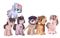 Size: 1024x651 | Tagged: artist:at--ease, base used, earth pony, female, hybrid, interspecies offspring, magical lesbian spawn, mare, oc, oc:aura breeze, oc:cozy leaf, oc:honeycrisp, oc:morning star, oc only, oc:rosella, oc:shining nova, offspring, parent:applejack, parent:big macintosh, parent:capper, parent:caramel, parent:fluttershy, parent:rarity, parents:capperity, parents:carajack, parents:fluttermac, parents:pinkieburst, parents:sunsetsparkle, parents:trixdash, parent:sunset shimmer, parent:twilight sparkle, pegasus, pony, safe, simple background, transparent background, unicorn