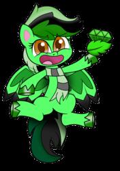 Size: 1200x1700 | Tagged: safe, artist:diamondgreenanimat0, oc, oc:diamond green, pegasus, pony, my little pony: pony life, clothes, scarf, simple background, solo, transparent background