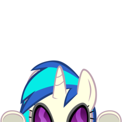 Size: 10000x10000 | Tagged: absurd resolution, artist:mrkat7214, cute, dj pon-3, female, glasses, mare, part of a set, peekaboo, peeking, pony, safe, simple background, solo, transparent background, underhoof, unicorn, vector, vinylbetes, vinyl scratch