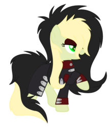 Size: 1633x1889 | Tagged: artist:celestial-rue0w0, artist:pegasski, base used, bedroom eyes, clothes, coat, commission, earth pony, eyeshadow, female, makeup, mare, oc, oc:da capo, oc only, open mouth, pony, raised hoof, safe, simple background, solo, transparent background