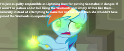 Size: 862x360 | Tagged: safe, edit, edited screencap, screencap, rainbow dash, pony, daring doubt, spoiler:s09e21, meme, opinion