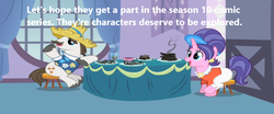 Size: 862x360 | Tagged: safe, edit, edited screencap, screencap, cookie crumbles, hondo flanks, pony, sisterhooves social, cookieflanks, female, male, season 10, shipping, straight