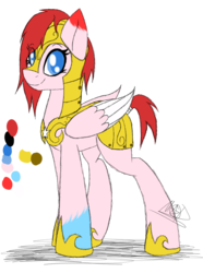 Size: 770x1037 | Tagged: armor, artist:didun850, eye clipping through hair, hoof shoes, oc, oc only, pegasus, pony, reference sheet, royal guard, safe, signature, simple background, solo, transparent background